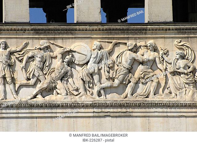 Relief on the Propylaea, Munich, Bavaria, Germany