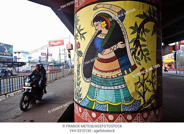 Mural painting ( Chhattisgarh state, India)