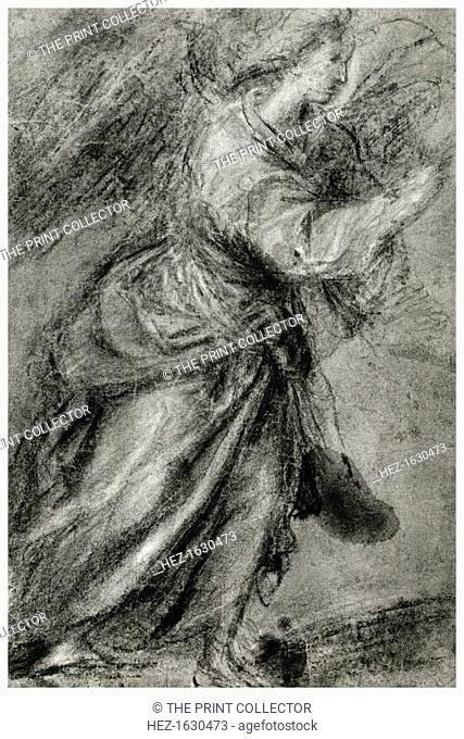 'Angel of the Annunciation', c1565, (1937). A print from Titian Paintings and Drawings, introduction by Hans Tietze, Phaidon Press, Vienna, 1937