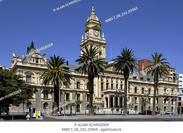 Palm trees in front of a building, City Hall, Cape Town, Western Cape Province, South Africa