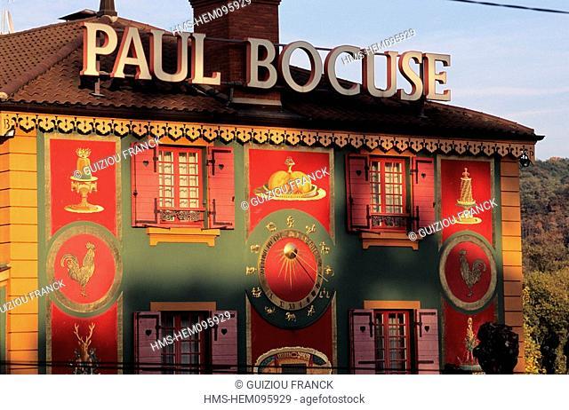 France, Rhone, Paul Bocuse restaurant in Collonges in the Mont d'Or Lyonnais region