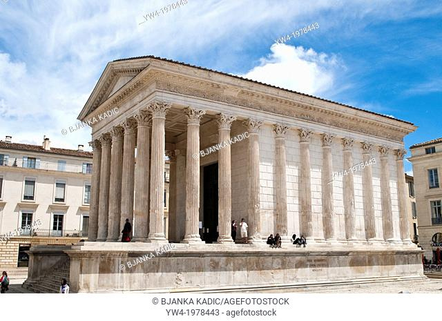 La Maison Carree, Roman Temple, Nimes, France