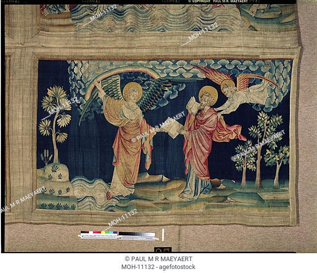 La Tenture de l'Apocalypse d'Angers, Saint Jean mange le livre 1,48 x 2,49m, der heilige Johannes isst das Buch
