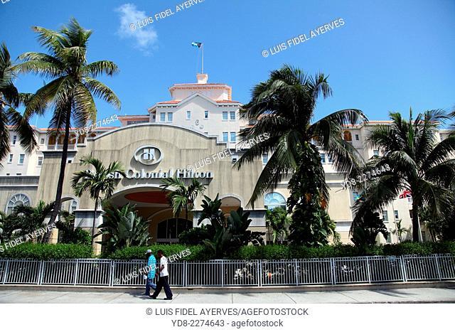 Hotel Hilton in downtown Nassau, Bahamas