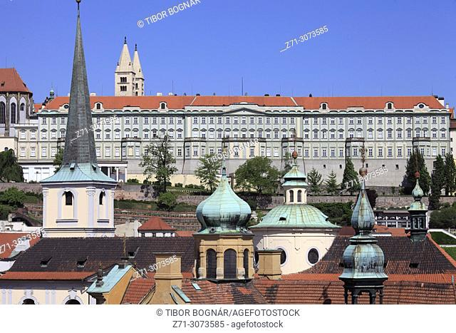 Czech Republic, Prague, skyline, Lesser Town, Mala Strana, Castle,