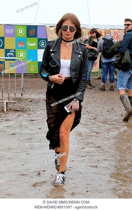 Cara Delevingne, Suki Waterhouse, and other celebrities attend Glastonbury Festival - Day 2 Featuring: Millie Mackintosh Where: Glastonbury