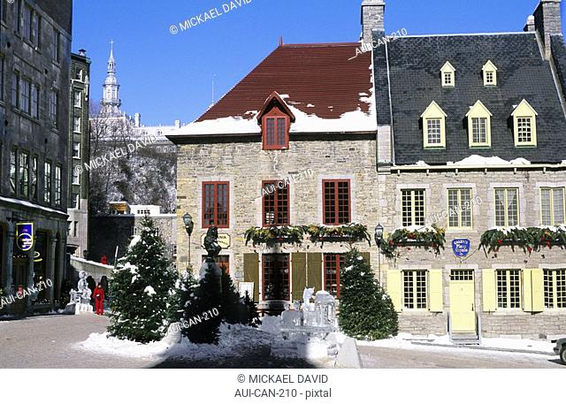 Canada - Quebec - Old Quebec - Upper town - District of Petit Champlain - Place Royale