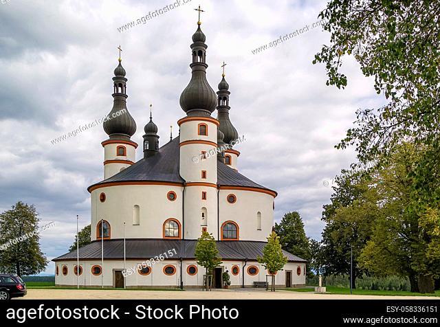 Chapel of the Trinity (Dreifaltigkeitskirche Kappl) is most important Baroque circular building was constructed by Georg Dientzenhofer in 1698; Waldsassen;...