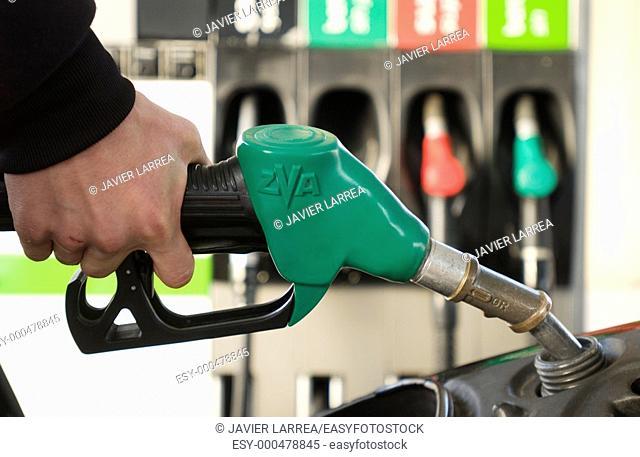 gasoline refueling, Hypermarket, gas station