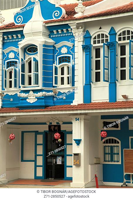 Singapore, Waterloo Street, old house, historic architecture,