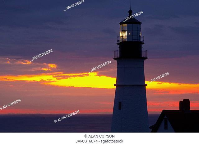 USA, Maine, Portland, Portland Head Lighthouse