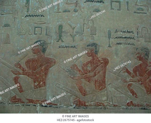 The Scribes. Relief from Mastaba of Akhethotep at Saqqara, Old Kingdom, 5th Dynasty, ca 2494-2345 BC