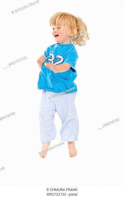 clipping path, action, active, background, boy, caucasian, child, energetic, energy, enjoyment, expressions, fun, hair, happiness, happy, isolated, joy, joyful