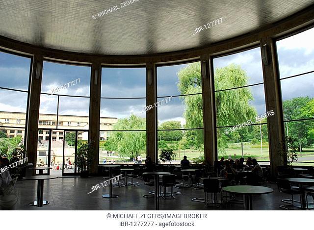 Cafe Rotunde in the Eisenhower Rotunda, Goethe University, Campus Westend, a former IG Farben building by architect Hans Poelzig, Frankfurt am Main, Hesse