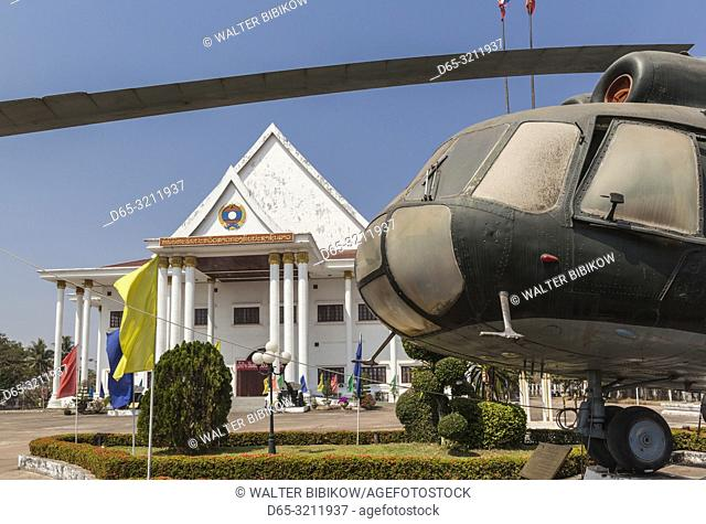Laos, Vientiane, Laotian Army Museum, Soviet MIL helicopter