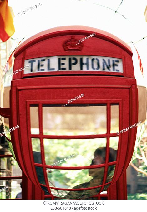 Telephone booth. London. England