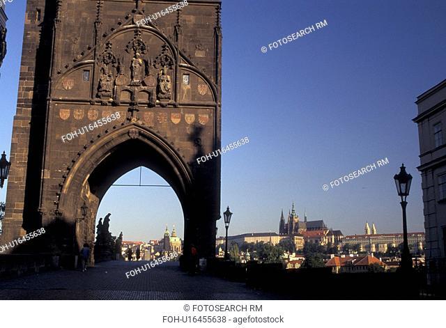 Prague, Charles Bridge Gate, Czech Republic, Praha, Central Bohemia, Old Town Bridge Tower