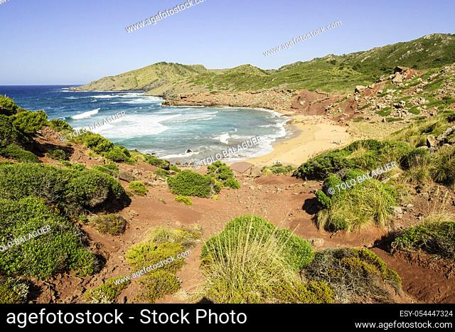 Playa del Pilar, Ferreries, Menorca, Islas Baleares, españa, europa