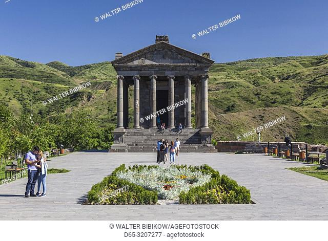 Armenia, Garni, Garni Temple, 1st century, with visitors, NR
