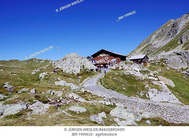 Berggasthaus Sustenpass hospice, on the Sustenpass, 2224m, connecting Canton Bern with Uri, Switzerland, Europe