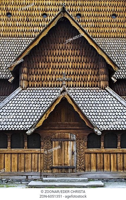 Entrance of the Stave Church Heddal