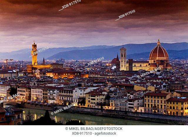Florence and Arno river, Tuscany region, Italy