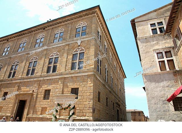 The old town and the streets of the medieval period Pienza, Italy on May 1, 2015 Pienza is world heritage site