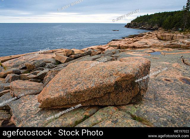 Rocky Coast near Otter Cliffs in Acadia National Park on Mount Desert Island, Maine, USA