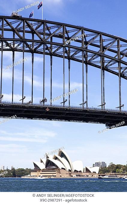 Sydney Opera House and Harbour Bridge, Sydney, Australia