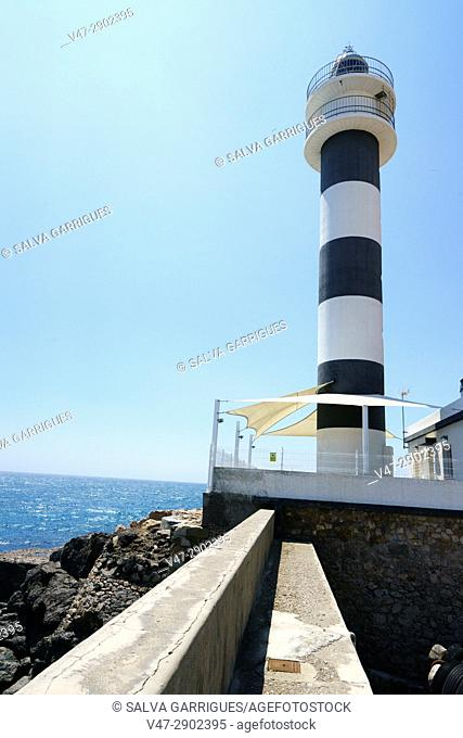 Lighthouse of the port of Aguilas, Murcia, Spain