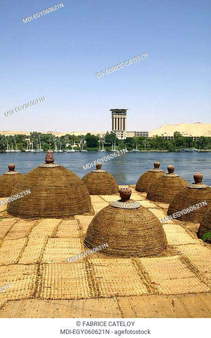 View of the Aswan Oberoi Hotel on the Elephantine Island from Aswan