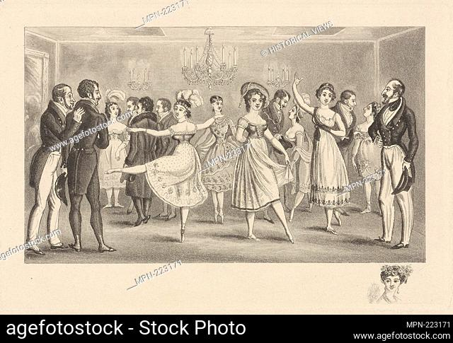 Caricature. Additional title: Caricature. Mercandotti, Maria. Prints depicting dance Theatrical dancers, singly or in pairs