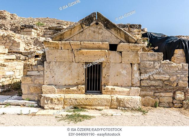 Tomb of St. Philip in ancient Greek city Hierapolis, Pamukkale, Turkey