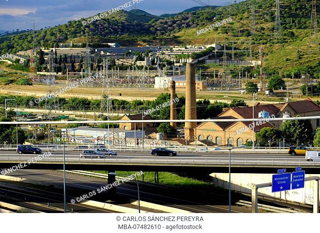 Urban landscape in Santa Coloma de Gramanet, an area of the metropolitan area of Barcelona of lower middle class residences