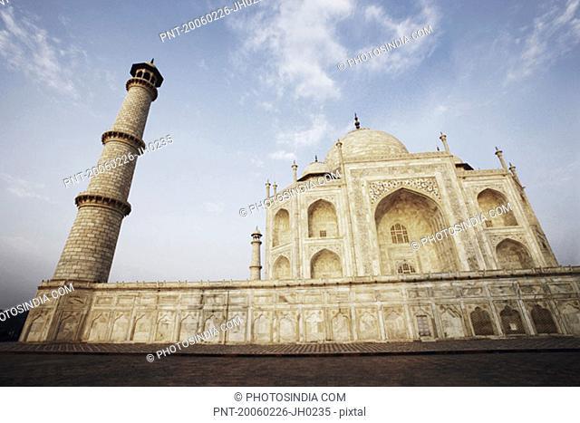 Low angle view of a mausoleum, Taj Mahal, Agra, Uttar Pradesh, India