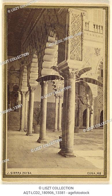 Entrance to Court of the Embassador Alcazar - Seville. 17 April 67; Jose Sierra Payba (Spanish, active Seville, Spain 1860s - 1870s); April 17