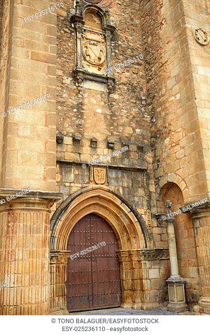 Caceres church of Santiago in Extremadura of Spain by the via de la Plata