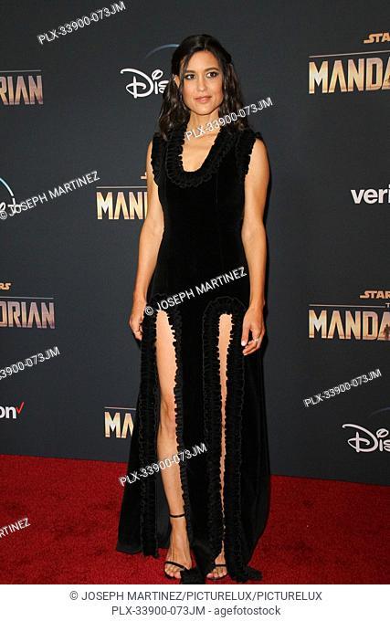 "Julia Jones at """"The Mandalorian"""" Premiere held at El Capitan Theatre in Hollywood, CA, November 13, 2019. Photo Credit: Joseph Martinez / PictureLux"