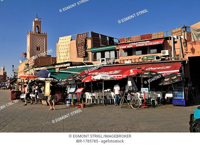 Djemaa el Fna square, Marrakesh Medina, Unesco World Heritage Site, Morocco, North Africa