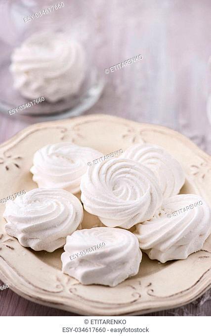 White apple marshmallows, homemade zephyr