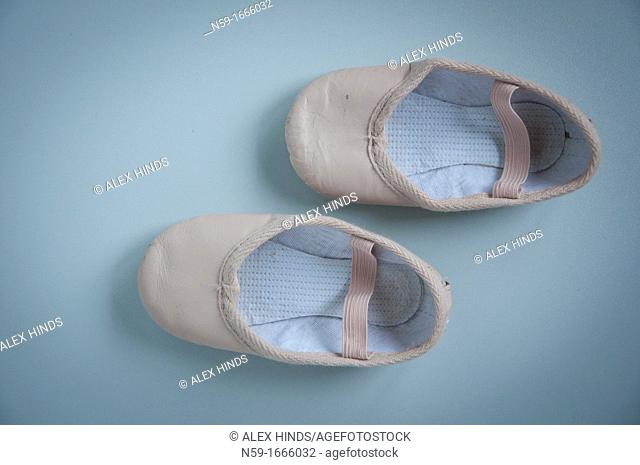 Young child's ballet shoes