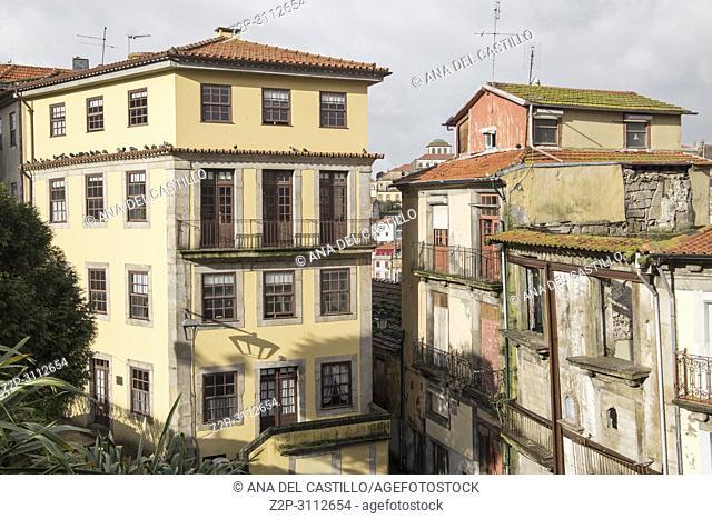 Cityscape in Porto Portugal on January 13, 2018