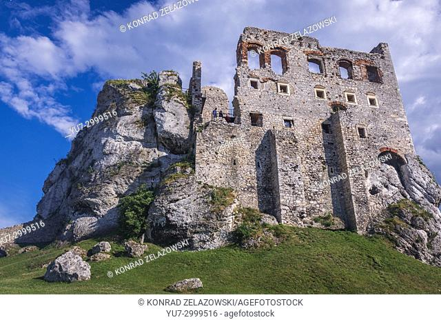 Ogrodzieniec Castle in Podzamcze village, part of the Eagles Nests castle system in Silesian Voivodeship of southern Poland