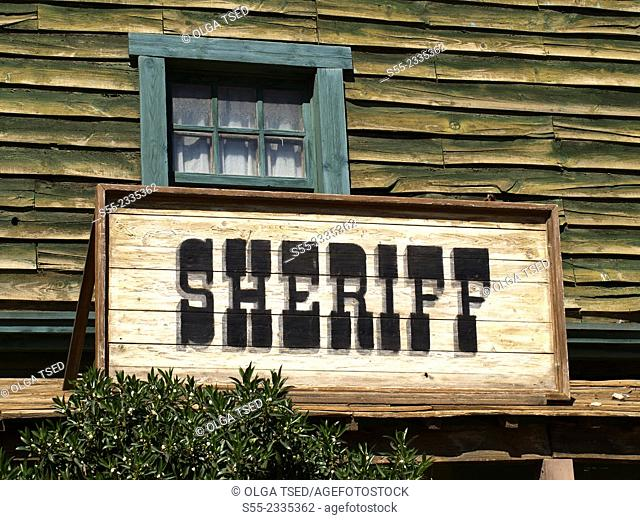 Sheriff. Western village. Almeria, Andalucia, Spain