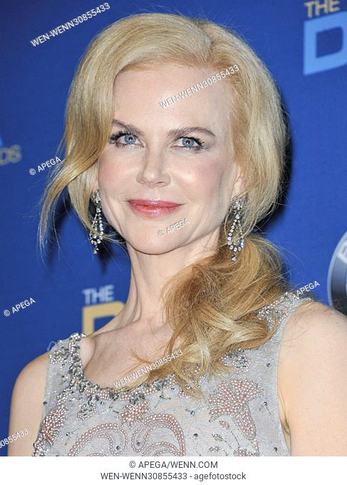 The 69th Annual Director Guild Awards held at the Beverly Hilton - Press Room Featuring: Nicole Kidman Where: Los Angeles, California