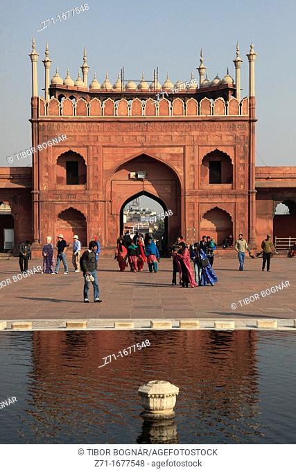 India, Delhi, Jama Masjid, Mosque, north gate