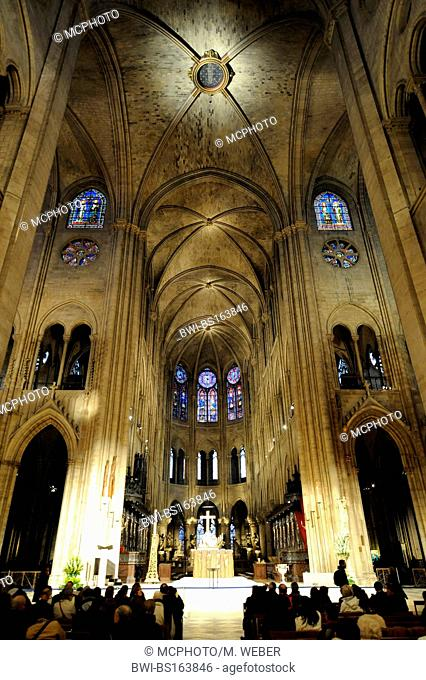 Notre Dame de Paris, indoor photography, France, Paris