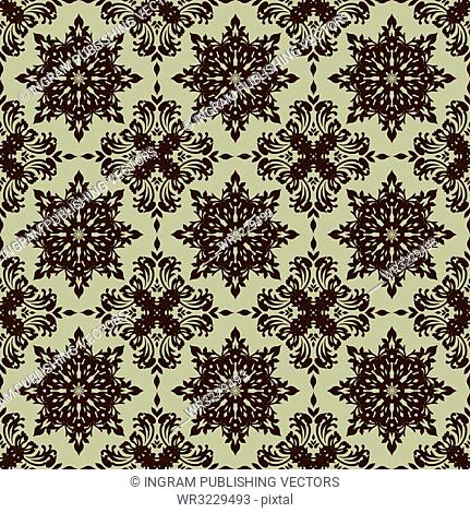beige illustrated seamless repeating wallpaper design