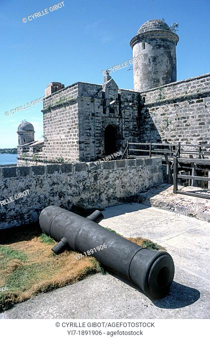 Cuba, Cienfuegos, Castillo de Jagua - The fortress was erected by Spanish king Philip V  in the 1740s to protect the bay from Caribbean pirates that used to...