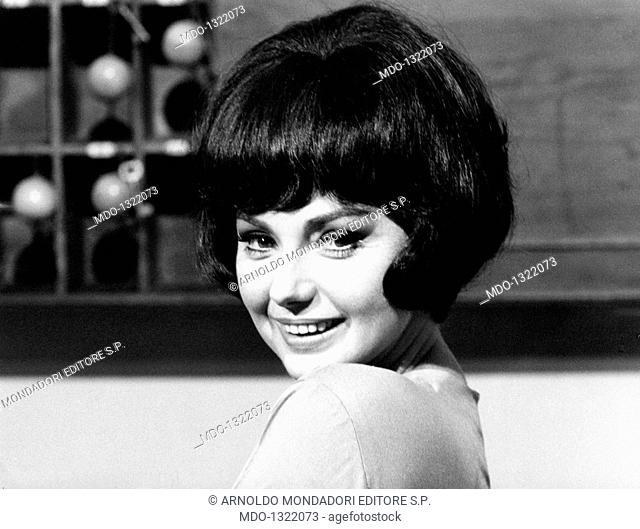 Sylva Koscina in 'Thrilling'. Croatian-born Italian actress Sylva Koscina acting in the film 'Thrilling'. 1965